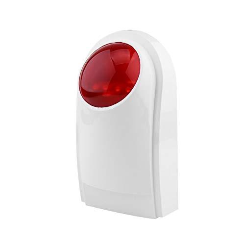 Peanutaso Alarma Sirena de Flash a Prueba de Agua al Aire Libre Sirena de Alarma de Flash estroboscópico para Wif gsm PSTN Sistema de Alarma de Seguridad para el hogar