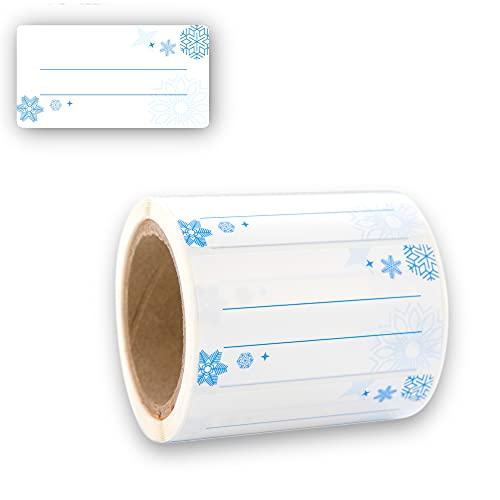 Etiketten Selbstklebend 200 Stück, Klebe-Etiketten zum Beschriften von Einmach-Gläsern, Tiefkühletiketten, Einmachetiketten 60x30mm