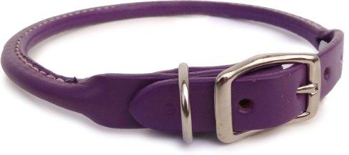 Auburn Leathercrafters Rolled Dog Collar - Purple...