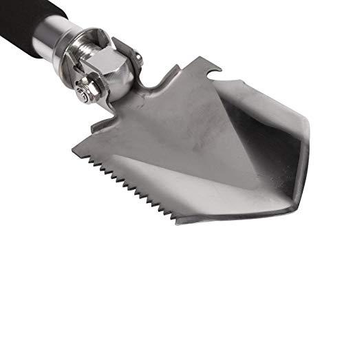 Pala de camping, equipo de camping multifuncional portátil de 13,8 pulgadas para picar para palear para martillar para aserrar para cavar para cortar