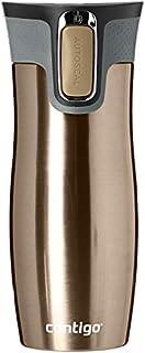 Contigo West Loop Autoseal Travel Mug, Stainless Steel Thermal Mug, Vacuum Flask, Leakproof, Coffee Mug with BPA Free Easy-Clean Lid, Latte, 470 ml (B077DG4FDG)   Amazon price tracker / tracking, Amazon price history charts, Amazon price watches, Amazon price drop alerts