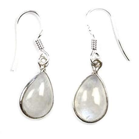 Vibrations Cristallines - Pendientes de piedra de luna y plata