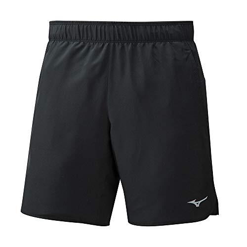 Mizuno Pantalones Cortos Core 7.5 2 en 1 para Hombre, Hombre, Pantalones Cortos, J2GB0176, Negro, XX-Large