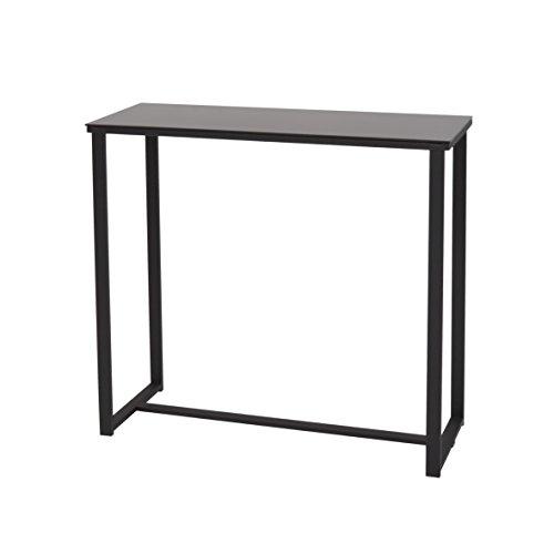 More Design MOUSE-CONSOLE-NR Consolle metallo laccato/cristallo temperato, nero, 80 x 30 x 75 cm