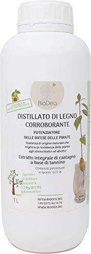 Distillato di Legno Corroborante Potenziatore della Difesa delle Piante, 1 litro