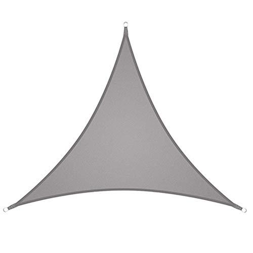 KAISUN Toldo triangular, protección UV, resistente a la arena, transpirable, resistente al sol, resistente al viento, con cuerdas al aire libre para jardín, terraza, camping, toldo (4 x 4 x 4 m, gris)