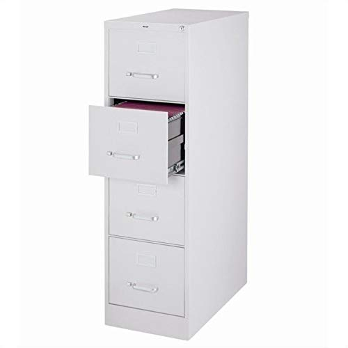 25' Deep 4 Drawer Commercial Letter Size Filing Cabinet Finish: Light Gray, Fully Assembled