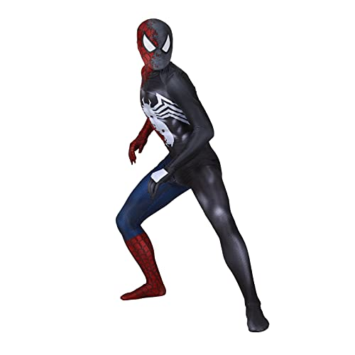 HAOWUTX Spiderman Elastic Traje Extraordinario Venom Lycra Spandex Impresión 3D Adults Child Party Fancy Vestido de Lujo Halloween Carnaval (Color : Spider-Man, Talla : 165-170cm)