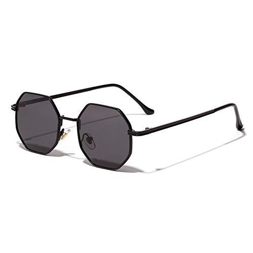 YUHANGH Occhiali da Sole alla Moda per Donna Occhiali da Sole a Specchio Riflettente Irregolare Occhiali da Uomo in Metallo Anti-UV UV400