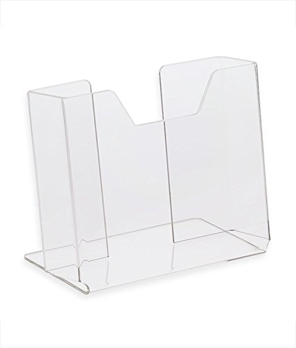 Source One Deluxe Vertical Postcard Holder Clear Acrylic - Counter Top Photo #2