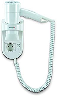 Prima 1200 socket secador de pelo inteligente pared con cable de espiral blanca y el zócalo
