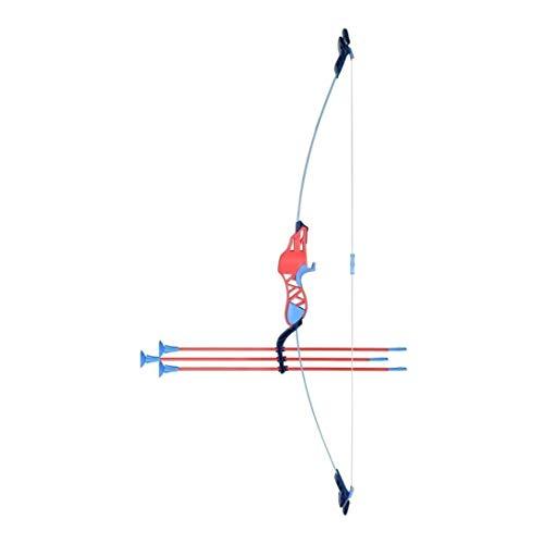 Tiro con Arco de Arcos Recurvos Tiro con arco de fibra de vidrio Flecha Niños Kits, tiro con arco caza al aire libre de tiro al blanco con la práctica del entrenamiento Longbow suave Sucker Flecha