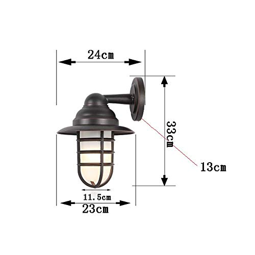 Wandlamp wandlamp glas spiegel voorverlichting buitenverlichting professionele wandverlichting Nominaal Outdoor Hof veiligheid wandlamp lamp verlichting I