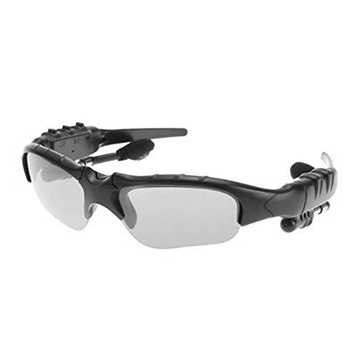 Gafas Con Camara Oculta,Gafas Bluetooth,Gafas Bicicleta,Manos Libres Bluetooth Auricular,Llamada de Soporte,Con MicróFono,Llamada Continua Durante 4 Horas,InaláMbrico,PortáTil,Montar En Bicicl
