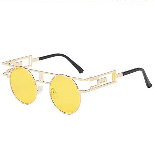 Z&HA Retro steampunk zonnebril mannen en vrouwen ronde frame gepolariseerde glazen metalen frame hars lens UV400 bril