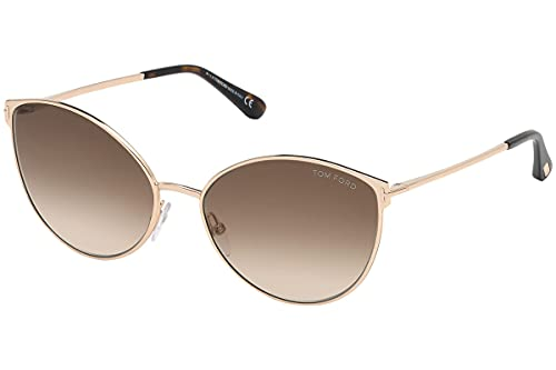 Tom Ford FT0654 28F Shiny Rose Gold Zeila Cats Eyes Sunglasses Lens Category 2
