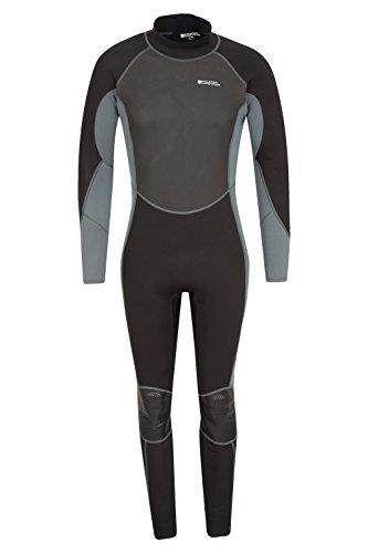 Mountain Warehouse Traje de Neopreno para Hombre -Cuerpo: 2.5mm, Ajuste Entallado, Traje de Neopreno con Costuras Planas, Cierre Ajustable en el Cuello -para Hacer Surf Carbón Small/Medium