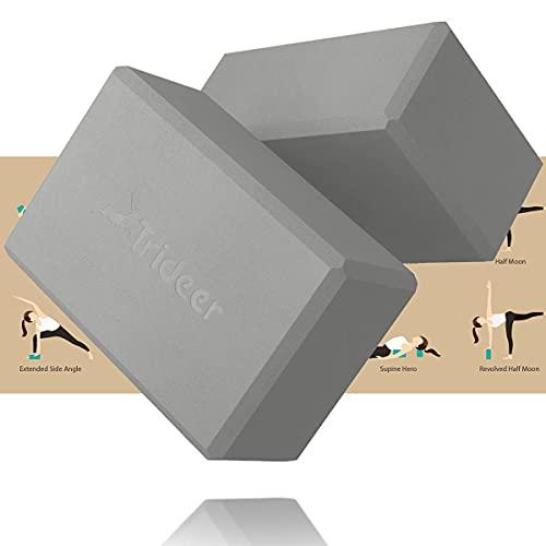 Trideer Yoga Blocks, Yoga Blocks 2 Pack, Premium EVA Foam with Free...