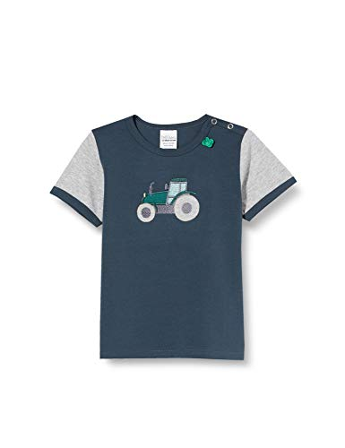 Fred'S World By Green Cotton Farming Front T T-Shirt, Bleu (Midnight 019411006), 92 Bébé garçon