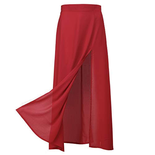 Brizz Rok voor dames, lange rok, nauwsluitend, hoge taille business split rok asymmetris rok lange rok met sleuven
