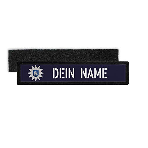 Copytec Patch Name Plate Police Hamburg Velcro Stripes Personalised Uniform #36320