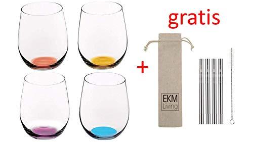 RIEDEL 5414/88 Happy O - Weinglas/Wasserglas/Cocktailglas (4er Vorteilsset Silber)