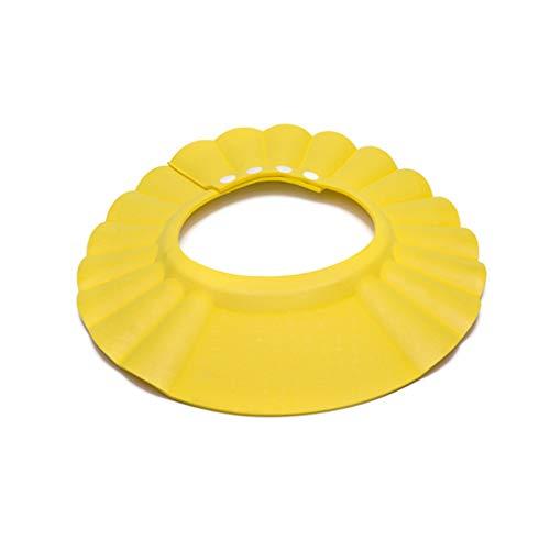 Tenworld Baby Children Kids Safe Shampoo Shower Bathing Protect Soft Cap Hat (Yellow)