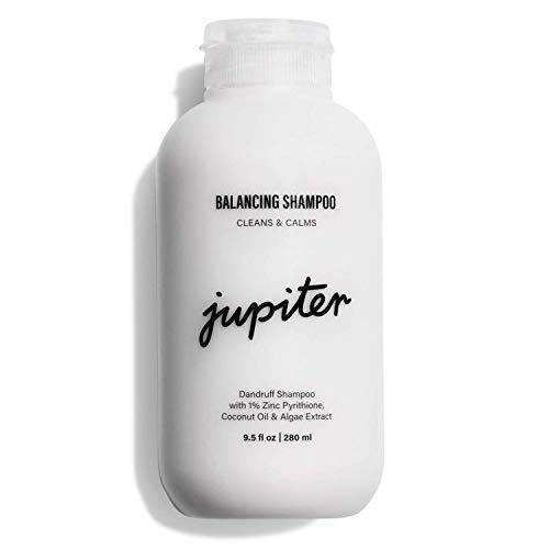 Jupiter Premium Medicated Dandruff Balancing Shampoo - Relieve Dry, Oily, Itchy, Flaky Scalp w/Zinc Pyrithione - Vegan & Natural Fragrance - Color Safe - Sulfate, Paraben, Phthalate-Free - 9.5 fl oz