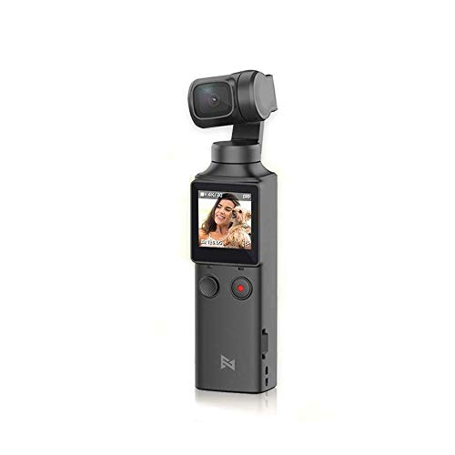 SERTG FIMI Palm 3 Axis Gimbal Stabilizer with 4K Integrated Camera, 128° Ultra Wide Angle Lens, Wi-Fi & Bluetooth Connection, Built-in Microphone and External MIC Supported