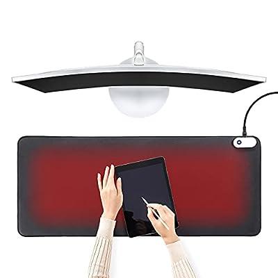 Warm Desk Pad, Heated Desk Mat, 3 Speeds Touch ...