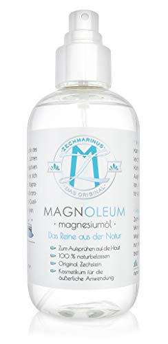 Magnesiumöl Spray 100% Zechstein Magnesiumchlorid – 200 ml PET-Sprühflasche Magnesiumsole – Magnesium Oil/Magnesium Öl PUR