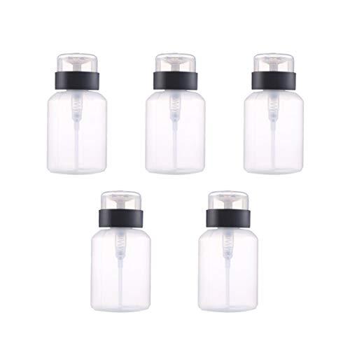 SUPVOX 5pcs pousser bouteille 210ml pompe distributeur bouteille vernis à ongles remover bouteille de stockage voyage en plein air à la maison