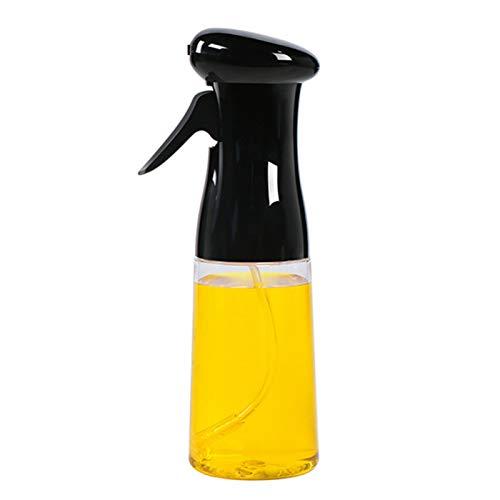 Dispensador de aceite, botella de vinagre, botella de 200 ml para cocina, barbacoa, hornear, vinagre, pulverizador de aceite, botella dispensadora, color negro
