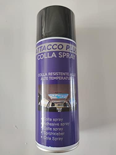 Colla Spray Multiuso Permanente Per Tessuto Cielo Auto, Asciugatura Immediata, Resistente alle Basse e Alte Temperature, Utilizzabile Per Qualsiasi Materiale, Bomboletta spray ALTA QUALITA' 400ML