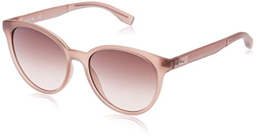 Lacoste Women's L887S Round Sunglasses, Transparent Nude/Nude Brown, 54 mm