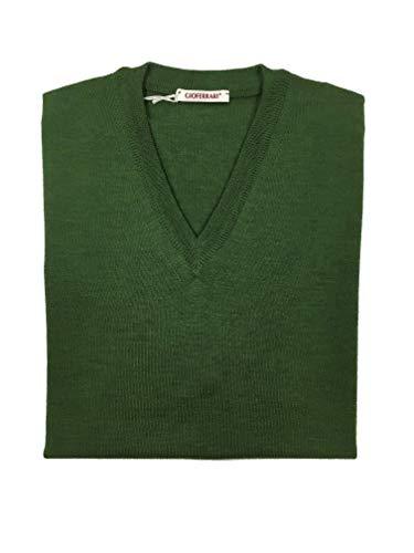 giò ferrari Trikot aus 100% Merino's Ausschnitt v, Grün 52