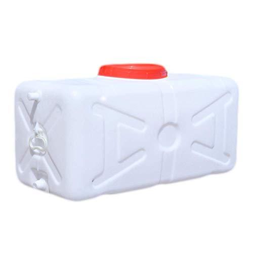 Tanque de agua de plástico extra grueso, tanque de agua para camping con tapa y grifo, contenedor de almacenamiento de agua para el hogar, tanque de agua grande, fertilizante fermentado, barriles de
