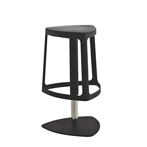 LRZS-Furniture Chaise de Bar Iron Art Household Chaise de Bar Pied Moderne sur piétement Debout Bureau de Levage Chaise de Bar en Acier Massif Creative Bar Banc (Couleur : Noir)