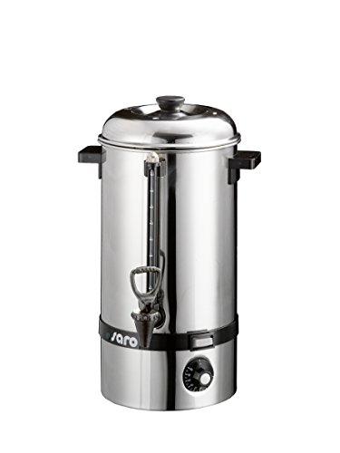 Saro 317-2010 Heißwasserkessel Modell Hot Drink Mini für Erhitzen/Warmhalten von Glühwein, Wasser, Kaffee, Tee (10 L, 2500W, Überhitzungsschutz, stufenlos einstellbar, Edelstahl) Silber, 10 liters