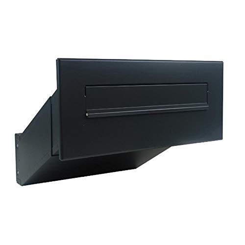D-041 Anthrazit (RAL 7016) Mauerdurchwurf Briefkasten (Tiefe: 23-38 cm) - LETTERBOX24.de