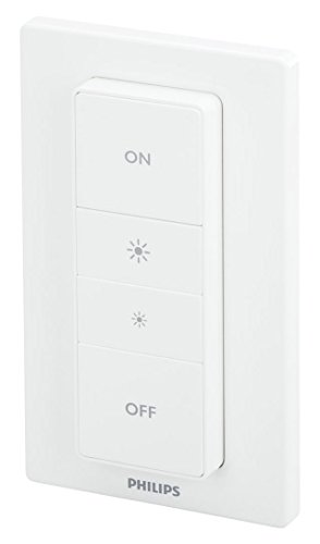 Philips Hue 473371 Smart Dimmer Switch with Remote, Pack of 1,White