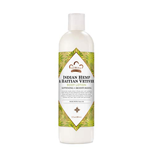 Nubian Heritage Body Lotion for All Skin Types Indian Hemp amp Haitian Vetiver Made With Fair Trade Shea Butter 13 Oz
