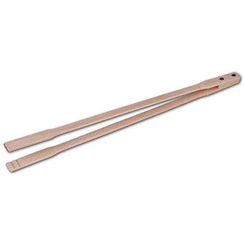 LA CUILLERE DU CHEF Pince à barbecue bois, 60 cm
