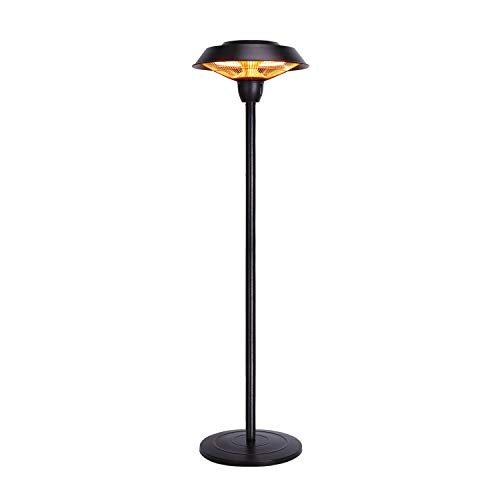 Star Patio Outdoor Freestanding Electric Patio Heater, Infrared Heater, Hammered Bronze Finished, Portable Heater Suitable as a Balcony Heater, BBQ and Outdoor Party Heater, 1566-C-S