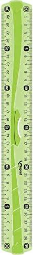 MAPED - Règle 30 cm incassable - Triple Décimètre Souple - Règle Résistante avec Poignée - Toucher Soft Anti-dérapant - Coloris Vert