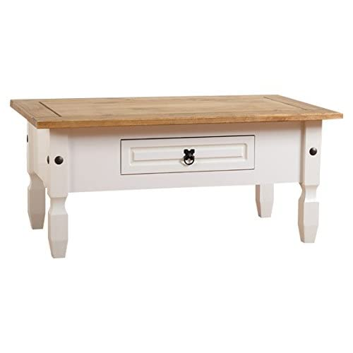 White Wooden Coffee Table Amazoncouk