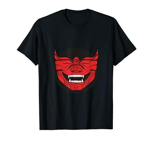 Mempo Japanese Mask Japan Mengu Samurai Facial Armour Tシャツ