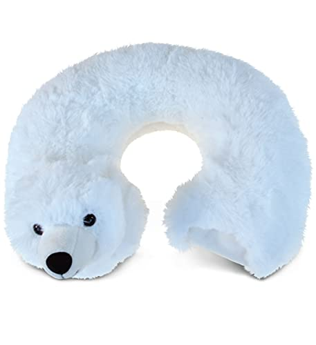 Puzzled Polar Bear morbidissimo peluche cuscino da viaggio peluche–Peluche animali/animali selvatici Theme–27,9cm–Great Head Support–item # 5793