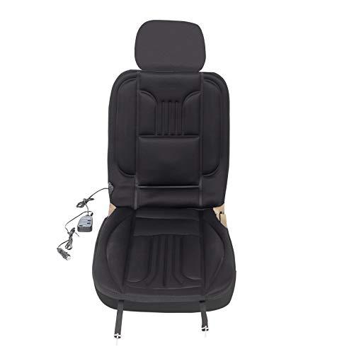 eSituro SHP0004 Auto Heizauflagen Sitzheizung Massage für Sitz & Rücken Heizung für Rücken Überhitzungsschutz Schwarz