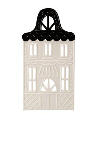 Hutschenreuther Little Christmas Town weiß Höhe 21 cm Lichterhaus Front 7 schwarz, Porzellan, 8 x 12 x 24 cm
